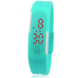 Часы силиконовые браслет зеленый