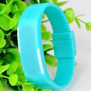 Часы силиконовые браслет голубой