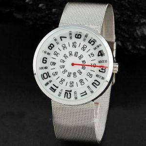 Часы с открытыми дисками круглый белый