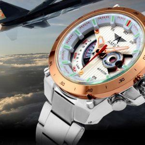 Часы авиационные золотистые