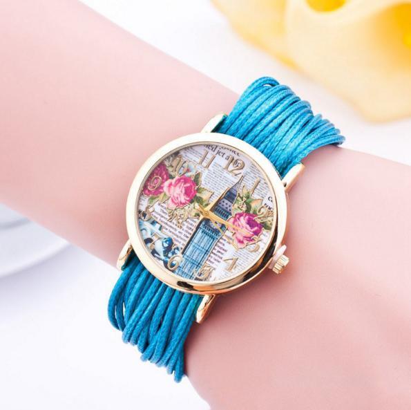Часы Бигбен с синими шнурками