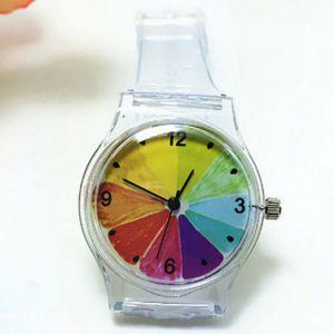 Часы силиконовые с принтом апельсин