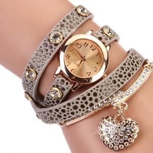 Кожаный браслет с цепочкой серый