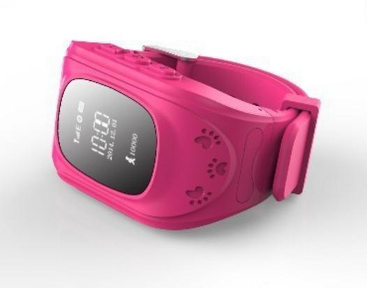 Детские GPS часы для родительского контроля розовый