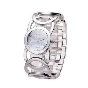 Часы с сетевым браслетом серебряные