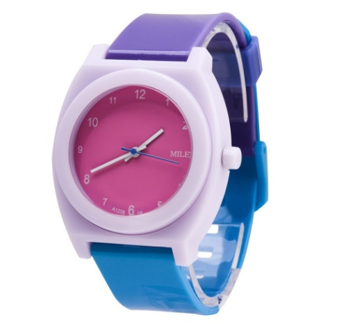 Часы с двухцветным браслетом