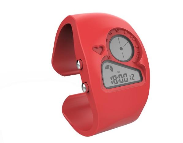 Часы браслет красные