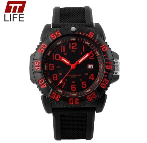 Часы люминесцентные LUMINOX красные