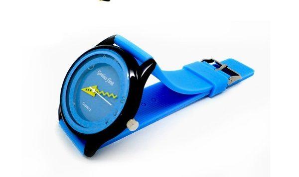 Часы силиконовые синие