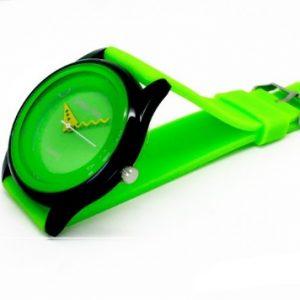 Часы силиконовые зеленые