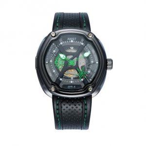 Часы механические ажурные зеленые