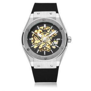 Часы механические Хаблот серебристый
