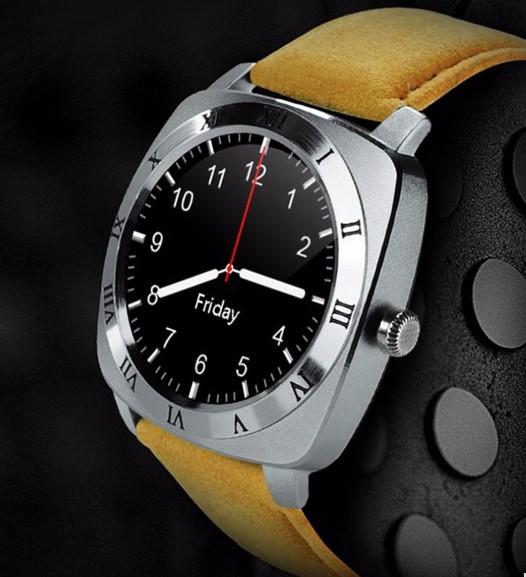 Умные смарт часы классические Х3 серебристые