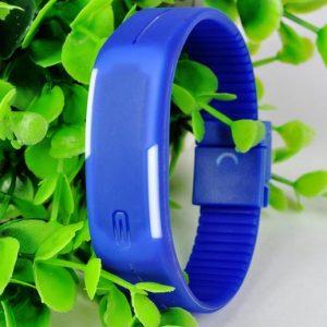 Часы силиконовые браслет синий