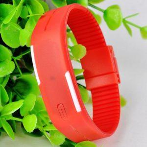 Часы силиконовые браслет красный