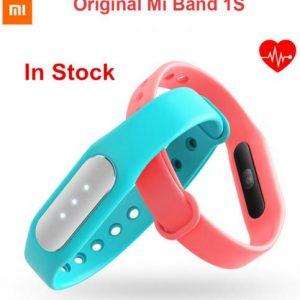 Фитнес браслет Mi Band 1S с пульсометр + разноцветный браслет на выбор