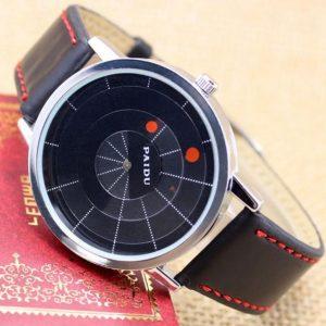 Часы дисковые черные