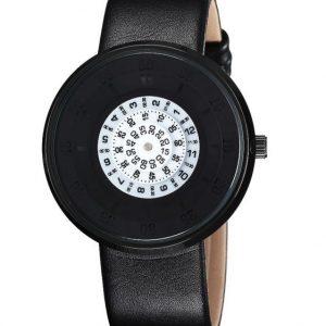 Часы с открытыми дисками черные