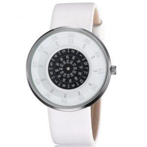 Часы с открытыми дисками белые