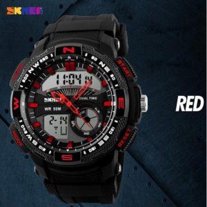 Часы мультидисплейный красные