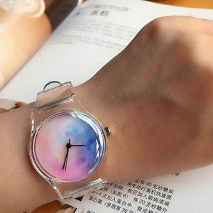 Часы силиконовые с принтом небо