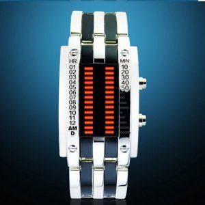 Часы светодиодные бинарный с красной подсветкой