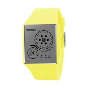 Часы светодиодные желейные конфеты желтый