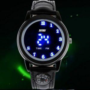 Часы с подсветкой часов и индикацией минут