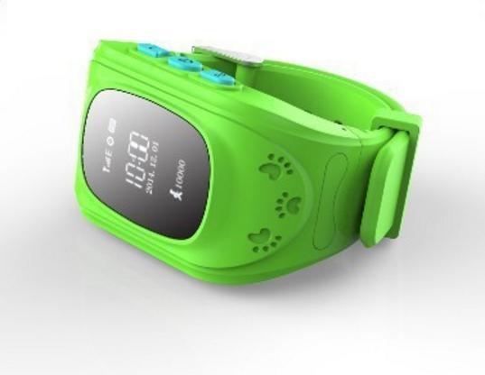 Детские GPS часы для родительского контроля зеленые