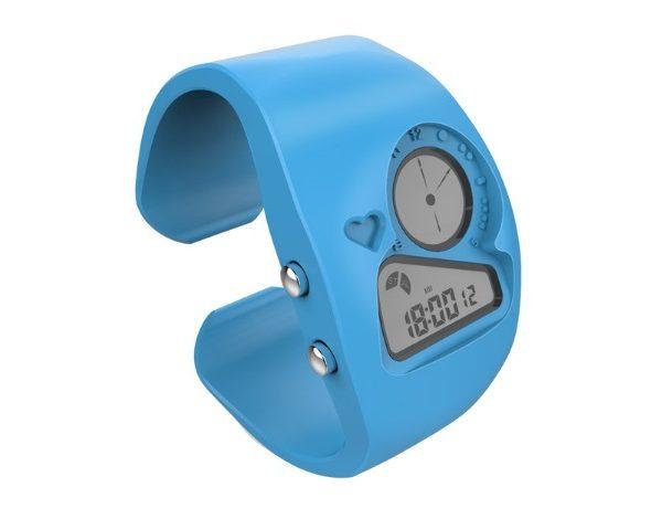 Часы браслет синие