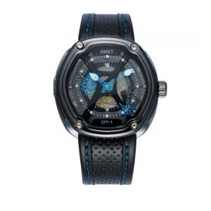 Часы механические ажурные голубие