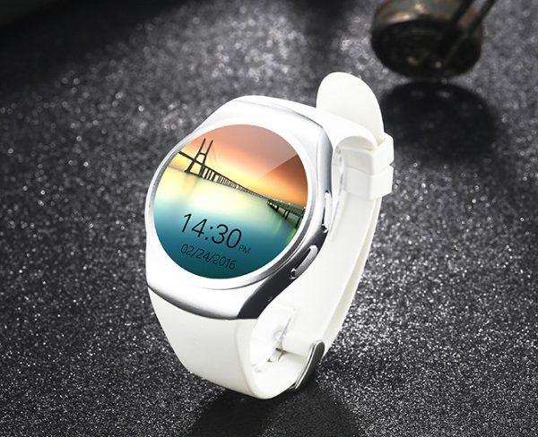 Умные смарт часы G3 KW18 круглые белые